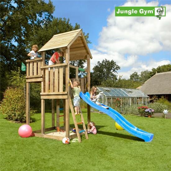 Legetårn komplet Jungle Gym Palace inkl. rutschebane