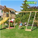 Legetårn komplet Jungle Gym Cottage inkl. Climb module x'tra og rutschebane