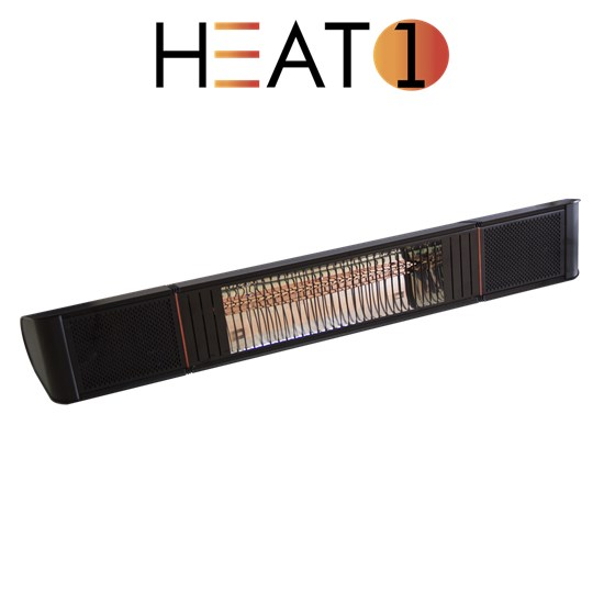 Terrassevarmer HEAT1 ECO pro-line 2000W, BT APP og højtalere