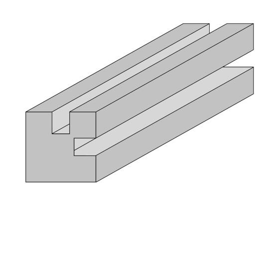 HORTUS Stolpe til profilhegn hjørne 9 x 9 x 270 cm