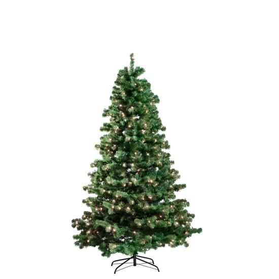 Kunstigt juletræ 150 x 100 cm, med lys