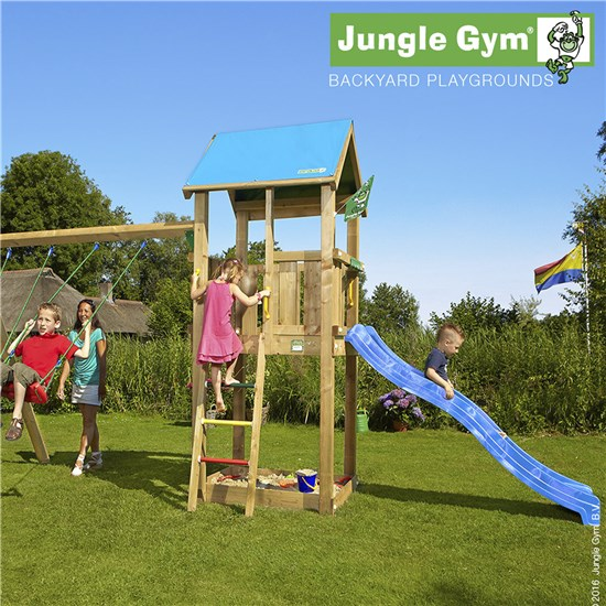 Jungle Gym Castle + Swing Modul X'tra web