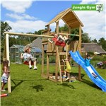 Legetårn komplet Jungle Gym Palace inkl. Swing module x'tra og rutschebane