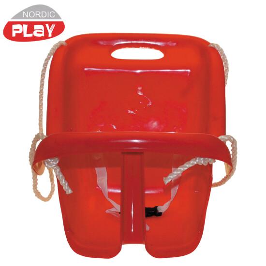 Babygynge NORDIC PLAY m/ høj ryg, rød