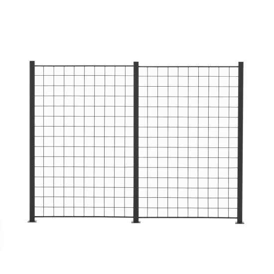 2 Fag espalier antracit grå 150 x 100 cm inkl. 3 alu stolper 158 cm