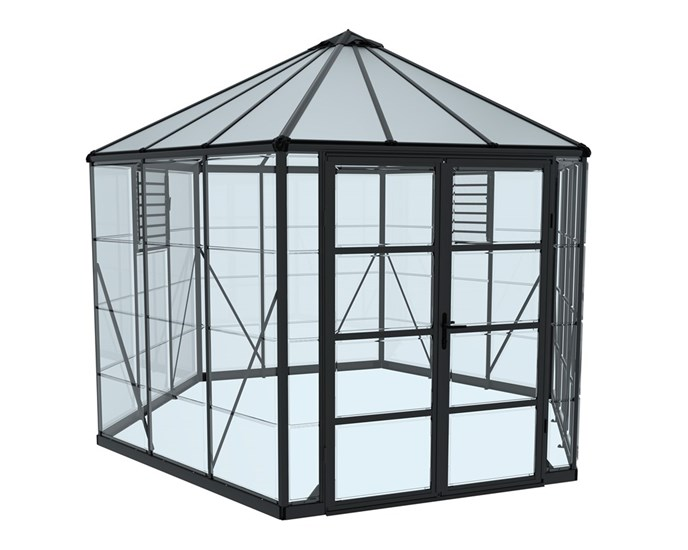 Drivhus PALRAM Oasis hexagonal 9 m2
