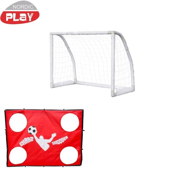 Soccer Goal Fodboldmål NORDIC PLAY 130 x 100 x 76 cm inkl. Sharpshooter