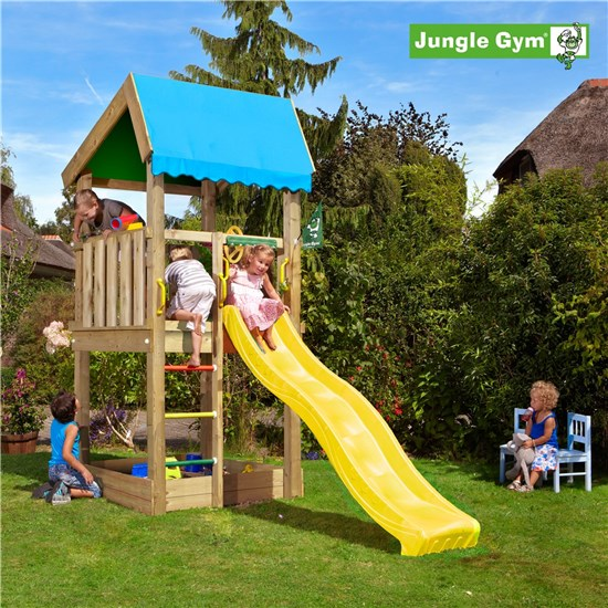 Legetårn komplet Jungle Gym Home inkl. rutschebane