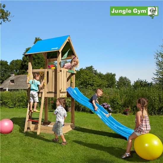 Legetårn komplet Jungle Gym Castle inkl. rutschebane