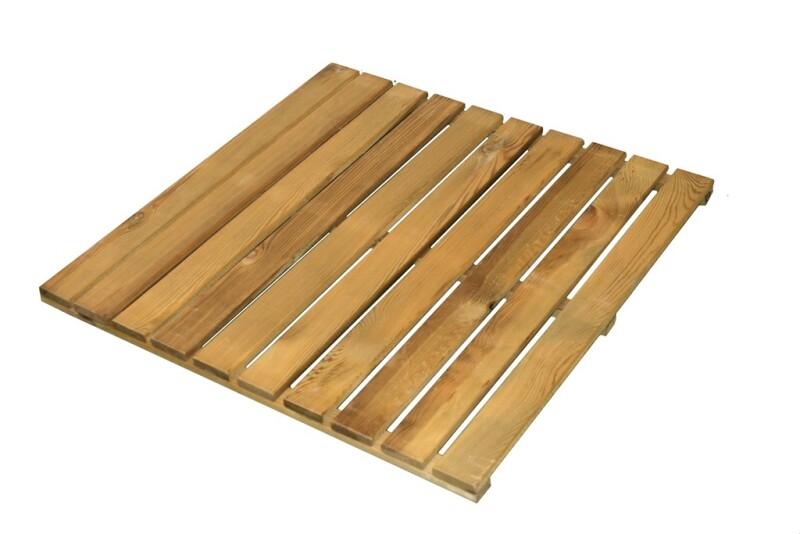 Træflise trykimprægneret 80 x 80 cm