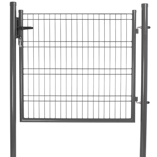 Låge for panelhegn 103 x118 cm, grå