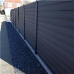 Kirkedal K2 Klinkprofil 170 cm hegnspakke tillægsfag med 1 stolpe sort alu