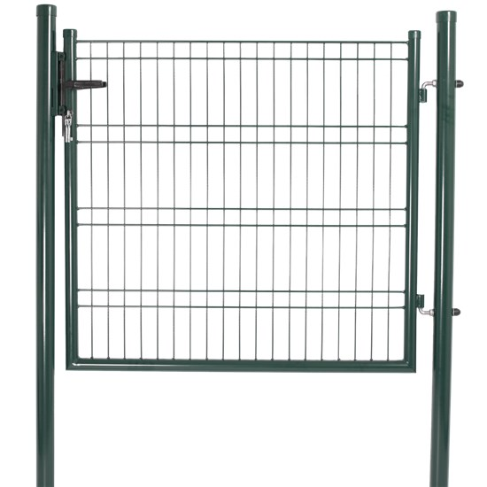Låge for panelhegn 103 x 118 cm, grøn
