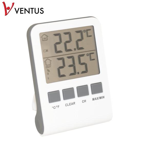 Digitalt inde-/udetermometer hvid WA118 VENTUS