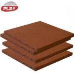 Gummiflise 50 x 50 x 3 cm rød NORDIC PLAY Active 7,5 m2 - 30 stk.