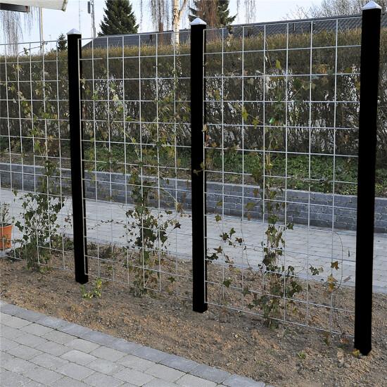 3 fag HORTUS Rio-net espalier galvaniseret 90 x 150 cm inkl. beslag inkl. 4 sortmalet stolper 240 cm