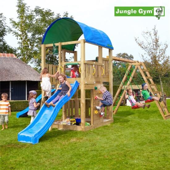 Legetårn komplet Jungle Gym Farm inkl. Climb module x'tra og rutschebane