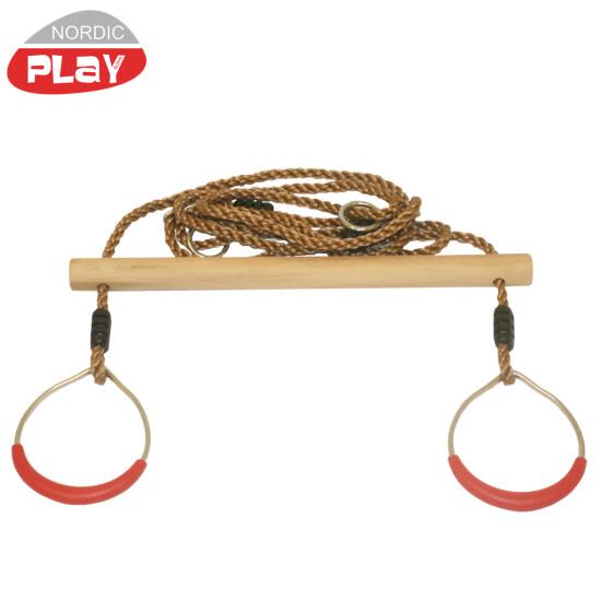 Trapezgynge NORDIC PLAY i træ med ringe