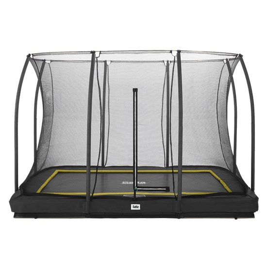 Trampolin Comfort Edition Ground 214x305 sort inkl. sikkerhedsnet