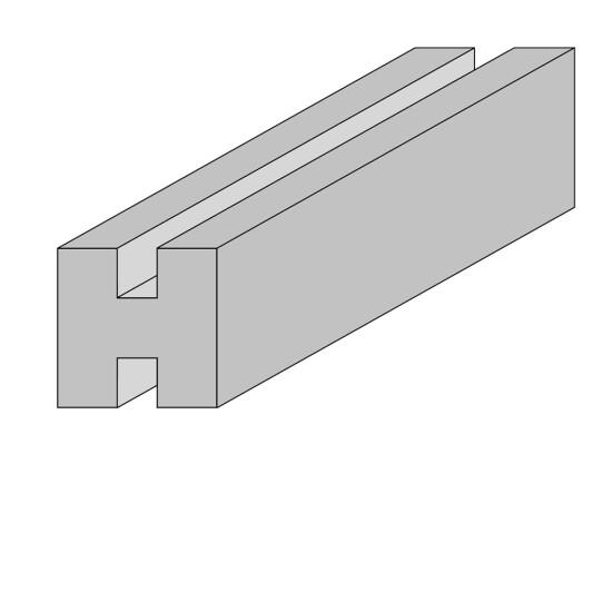 HORTUS Stolpe til profilhegn mellem 9 x 9 x 270 cm