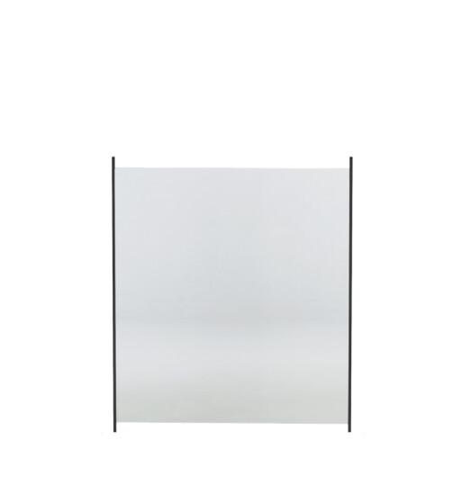 Glashegn til alu stolper 100 x 90 cm klar glas