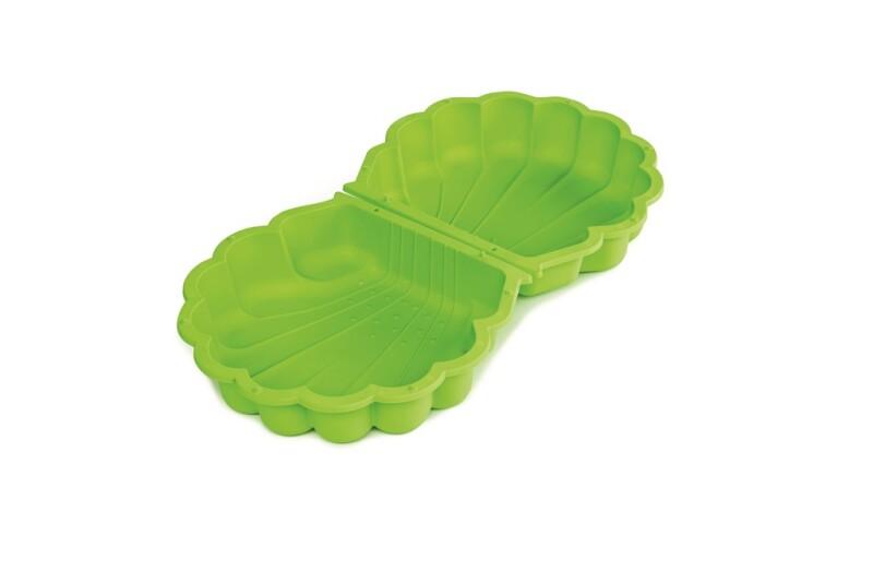 PARADISO TOYS sandkasse i plast, muslingeskal lille sæt med 2 stk., grøn